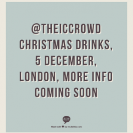 Save the date for our Christmas drinks